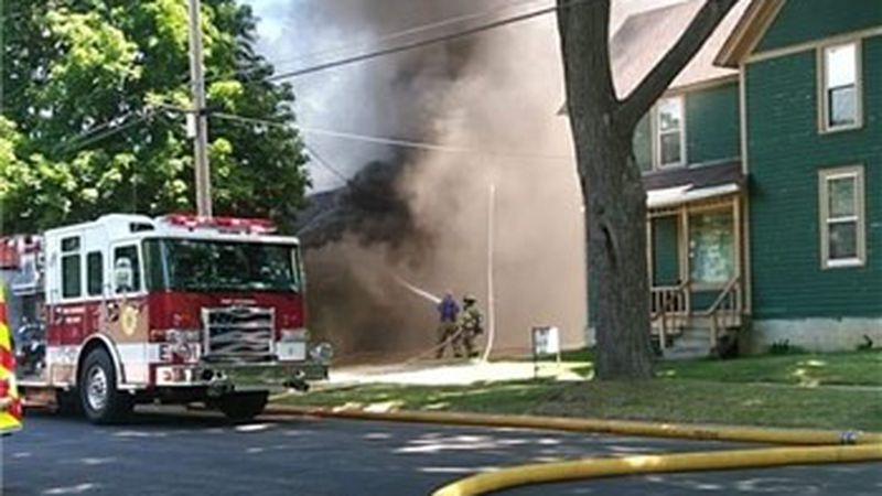 Firefighters respond to house fire in Ft. Atkinson.