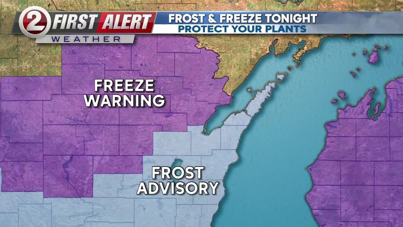 First Alert Forecast: Protect your plants tonight, frost likely in parts of the region
