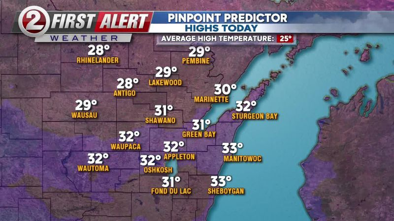 first Alert Forecast: Slippery this morning, quiet weather to start the work week