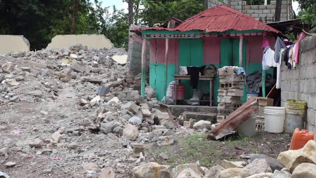 Earthquake damage in Gros-Morne, Haiti, where Green Bay native Brittany Galvin works as a nurse practitioner (photo provided)