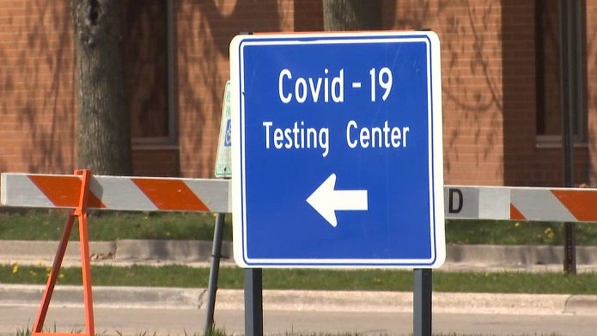 COVID-19 testing sign. (WBAY Photo)
