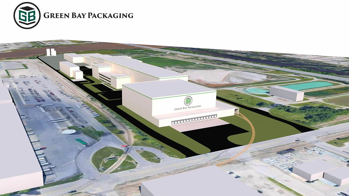 Artist's rendering of new Green Bay Packaging mill (image provided)