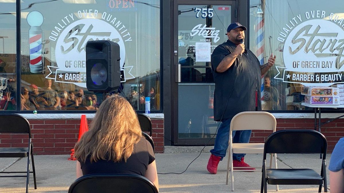 Community outreach summit in Green Bay on June 3, 2020 (WBAY photo)
