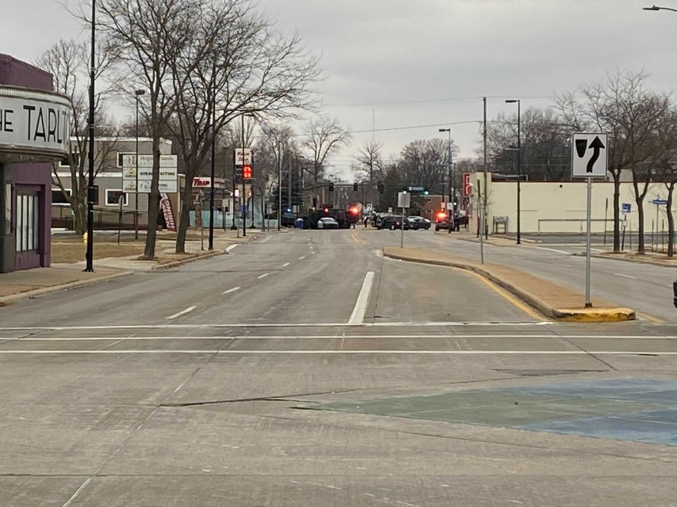 Green Bay Police block part of Walnut St. for an armed standoff. Dec. 27,2020.