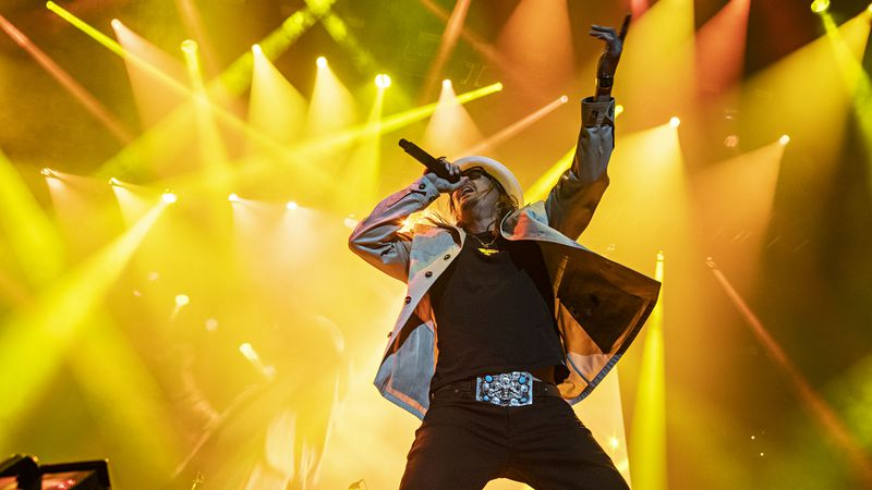 Kid Rock performs on stage at KAABOO Texas at AT&T Stadium on Saturday, May 11, 2019, in...