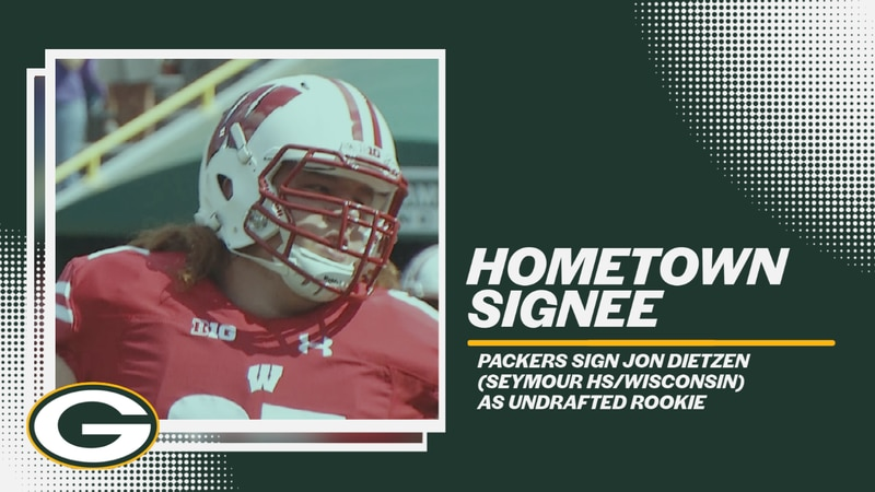 Wisconsin's Jon Dietzen, who played his high school ball in nearby Seymour, came out of...
