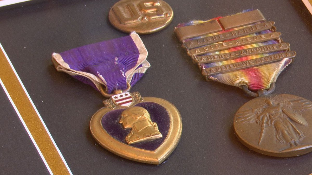 Purple Heart returns to family of WWI soldier