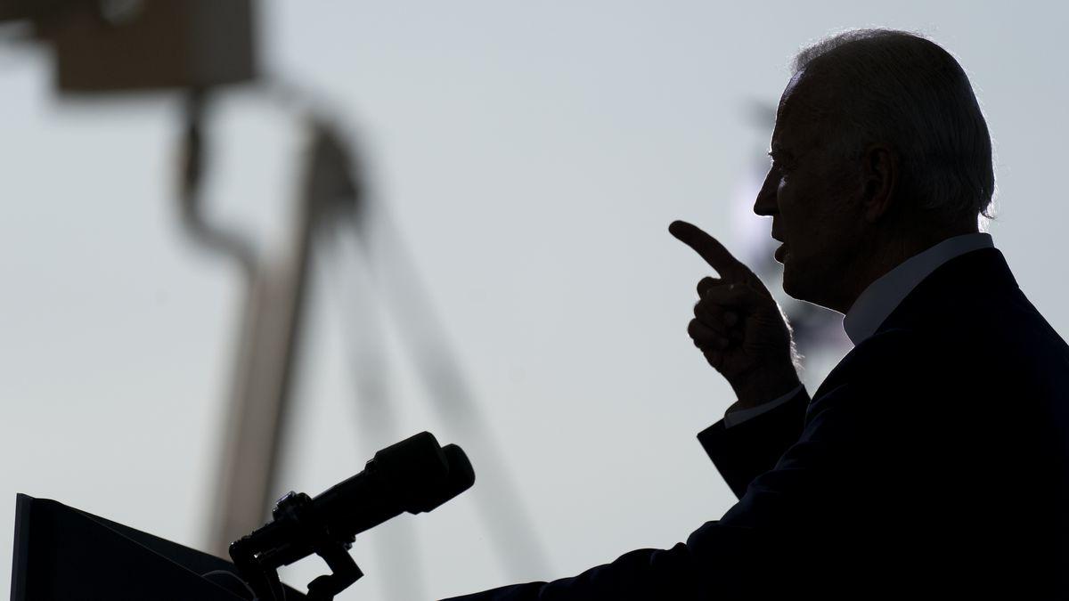 Democratic presidential candidate former Vice President Joe Biden speaks at Miramar Regional...