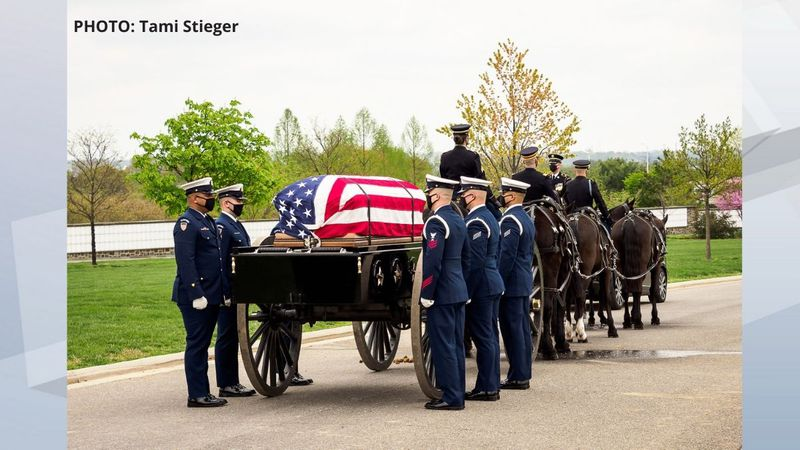 Bob Reeners is laid to rest at Arlington National Cemetery. April 13, 2021.