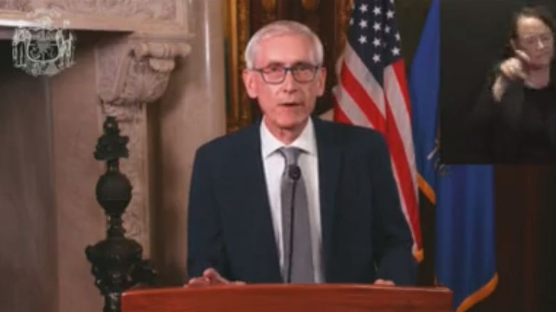 Gov. Tony Evers addresses state on Nov. 10, 2020