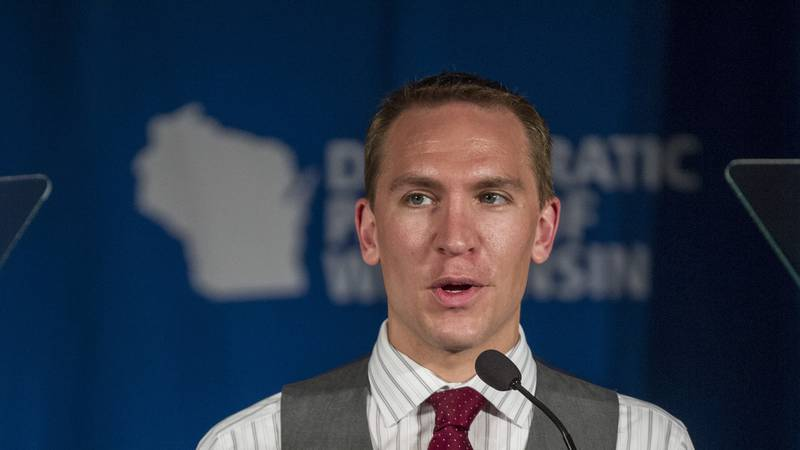 FILE - Wisconsin Sen. Chris Larson, D-Milwaukee, addresses delegates at the Democratic Party of...