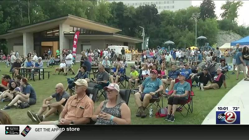 Fans at Mile of Music concert in Jones Park in Appleton