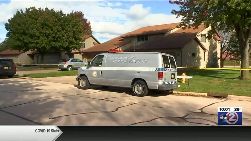 Crime scene van outside the home where two people were found dead in Ashwaubenon