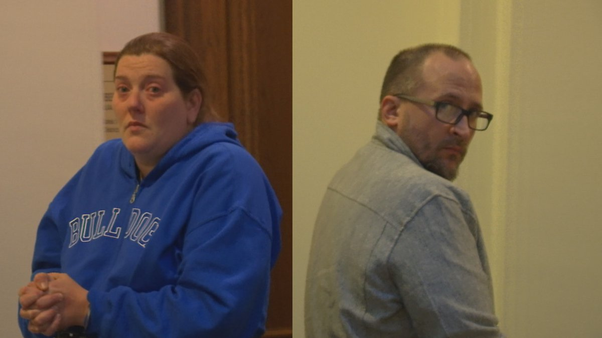 Tracy Sheldon and Chad Zeske appear in Green Bay's federal court. Jan. 22, 2020. (WBAY Photo)