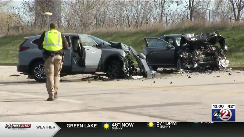 Five people were hurt in the head-on crash.