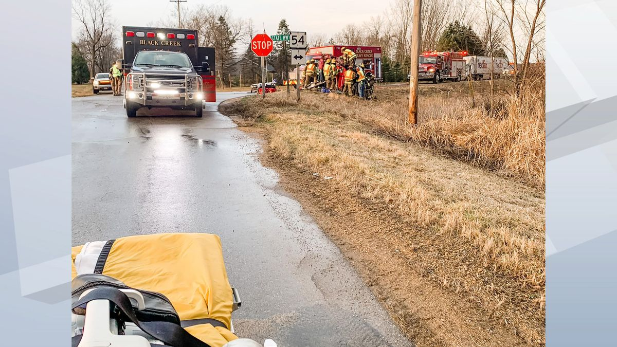 ThedaStar shares photos of the crash scene on Highway 54 in Black Creek. April 6, 2021.