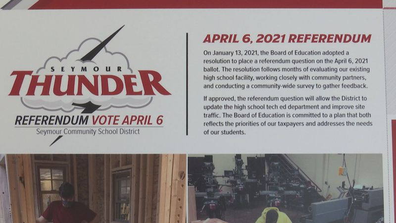 The district is asking for the community to support a $6.5 million referendum on April 6.