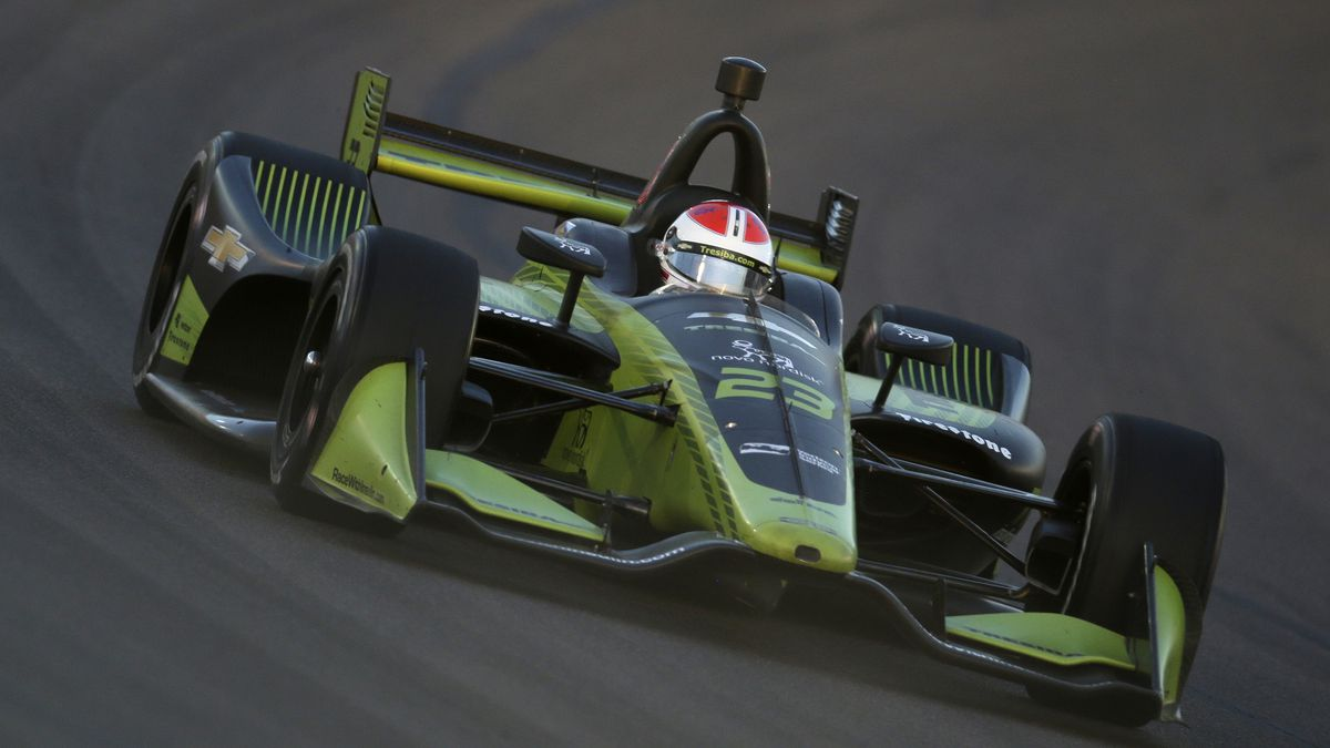 Charlie Kimball during the IndyCar auto race