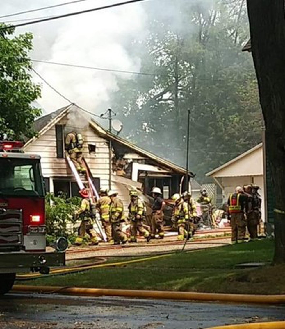 Firefighters put out fire in Ft. Atkinson on Jun. 11.