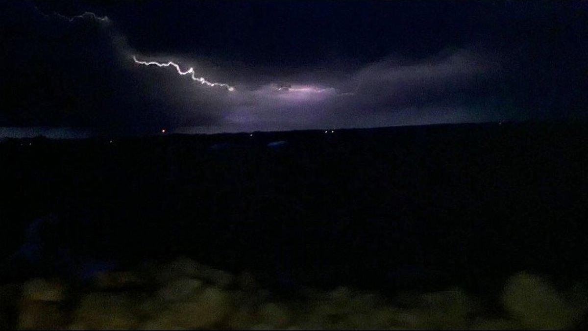 Lightning over Oconto Breakwater on June 13, 2021. Contributed Kortney Slye.