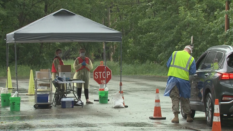 National Guard COVID-19 testing site in Stevens Point