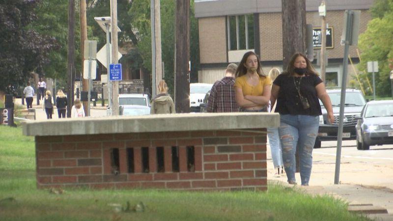Students return to campus at UW-Oshkosh ready to start the fall semester.