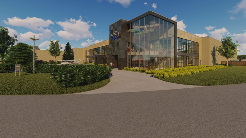 EAA rendering of museum expansion project.