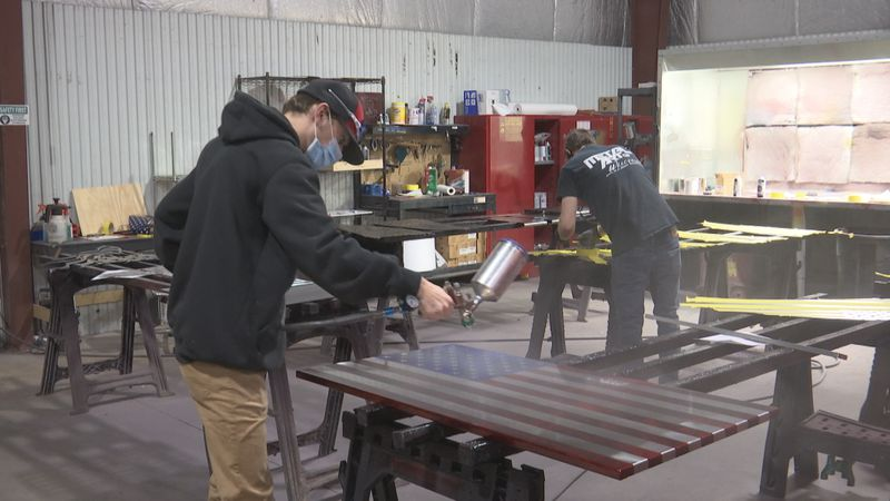 Metal Art of Wisconsin in Manitowoc is known for creating patriotic items.