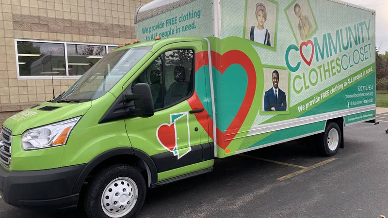 Each month during the school year, a large truck filled with clothing, bedding, winter wear and...