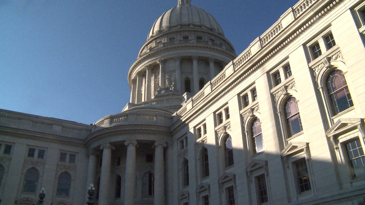 The Wisconsin Capitol in Madison, Wis.