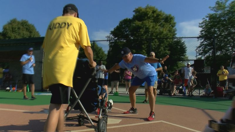 The Miracle League is a baseball league designed for people of all abilities.