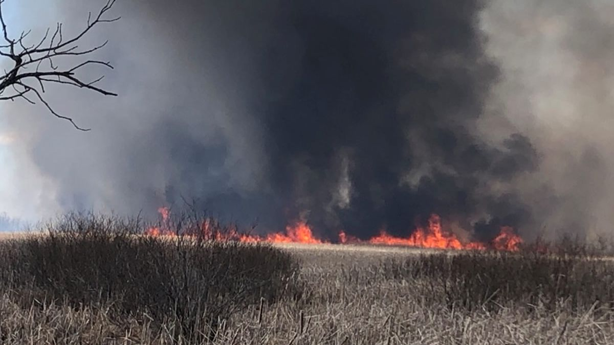 Marsh fire in Town of Winchester on April 3, 2019 (Photo: Ric Reynolds)