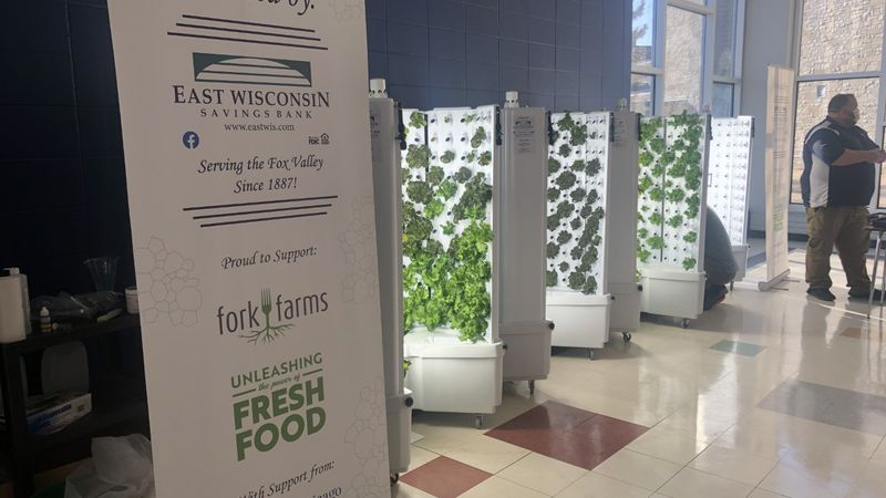 Four flex farms have been set up at Appleton East High School. It's just one of four districts...