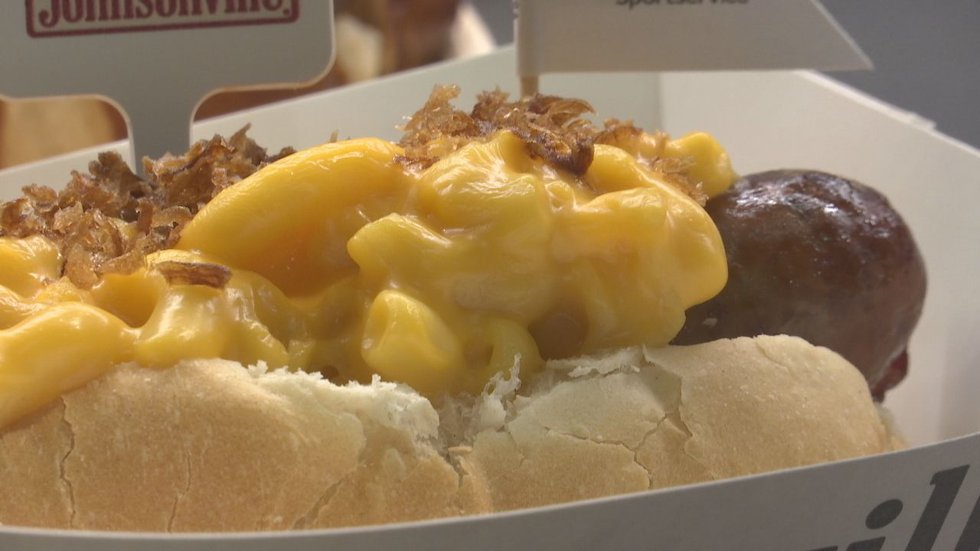 Lambeau Field has new concessions for the 2021 season, such as the Johnsonville Touchdown Mac...