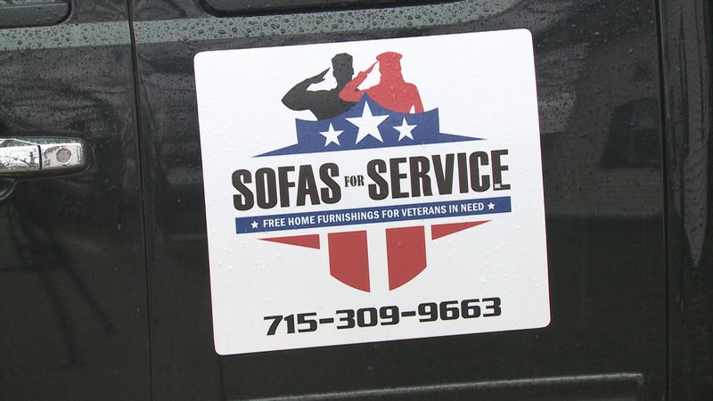 Non-profit donates furniture to veteran