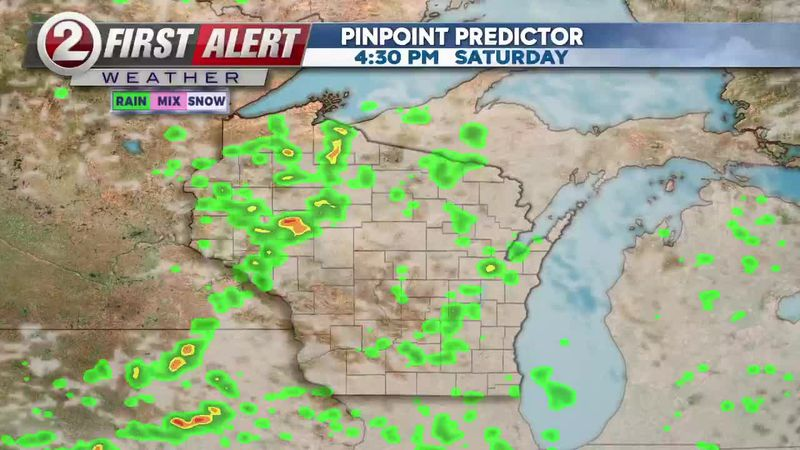 First Alert Forecast: Scattered rain for Saturday, warm up on the way