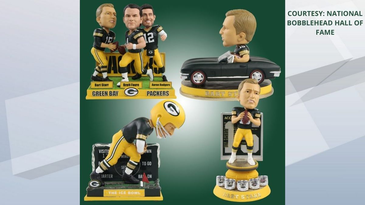 The National Bobblehead Museum and Hall of Fame unveils new Bart Starr editions.