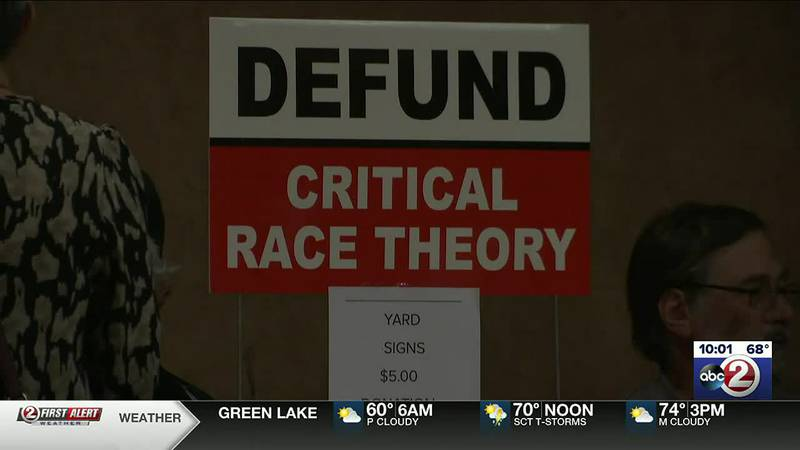 """A conservative group """"No Better Friend"""" held a discussion in Green Bay against critical race..."""