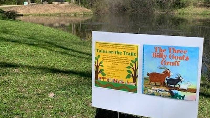 """Ashwaubenon launched an outdoor reading program this summer called """"Tales on the Trails""""."""