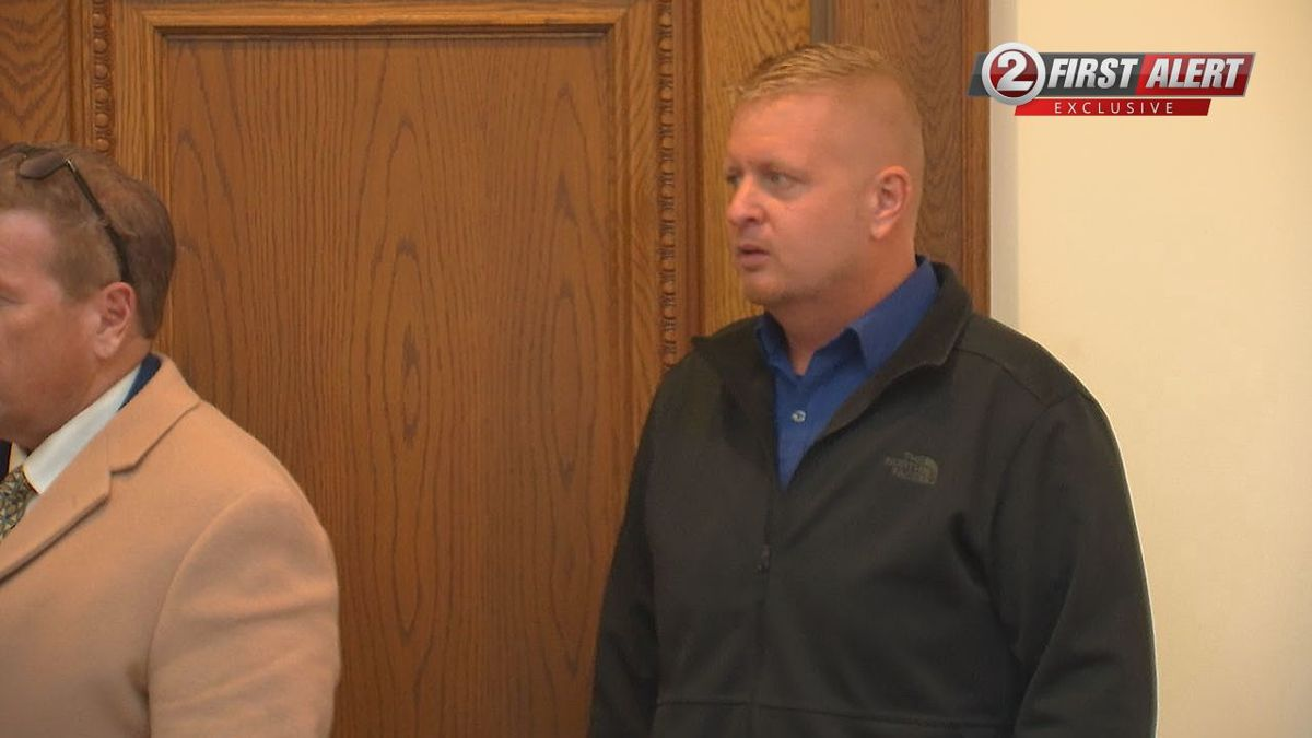 Robert Solberg appears before a federal judge for a plea hearing. Feb. 7, 2020 (WBAY)
