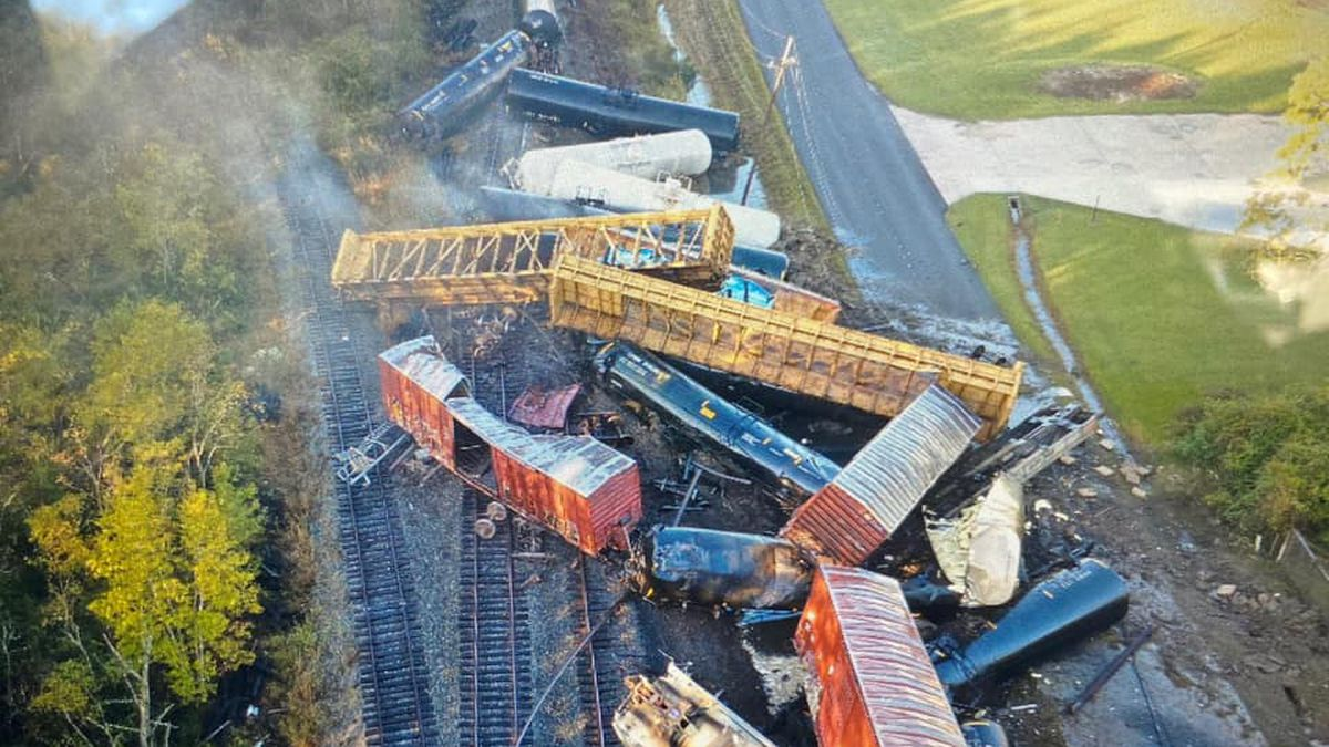 A train derailment on Thursday has forced people from their homes. No injuries have been...