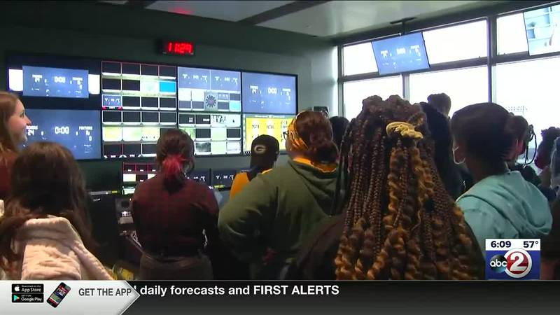 Boys & Girls Club members get a tour of Lambeau Field, including a look at technology used on...