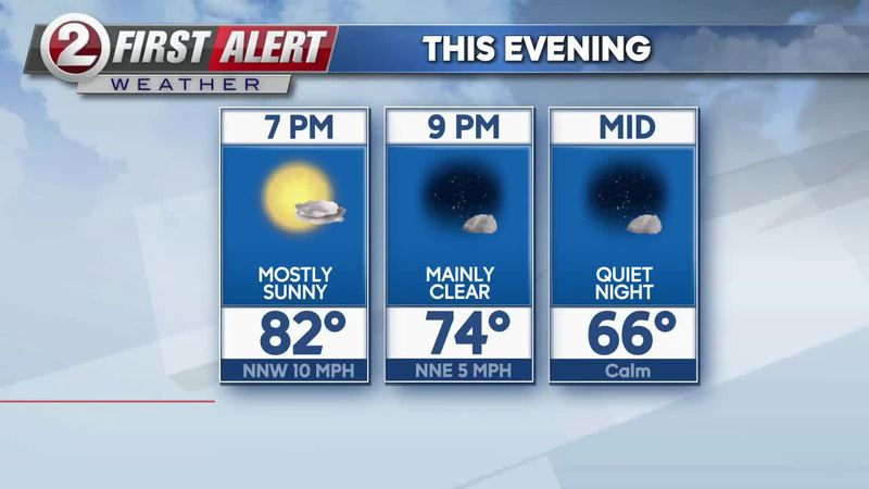 First Alert Forecast: Clear, calm skies continue tonight