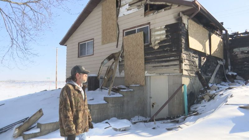 Amy Stubing and David Doleschal lost their Fond du Lac County home in a blaze on February 1....