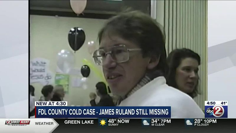 Image from Action 2 News archive video interviewing James Ruland, who disappeared in 1995