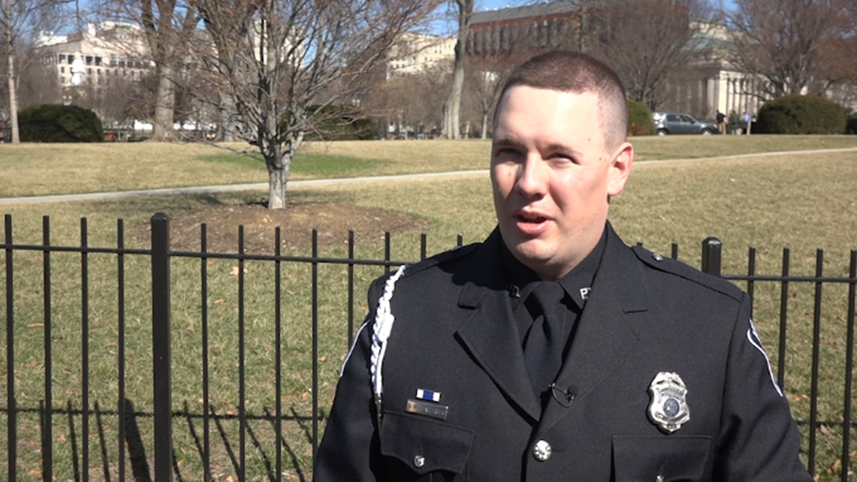 Officer Hopfensperger says he was just doing his job when he stopped a shooting at Antigo High...