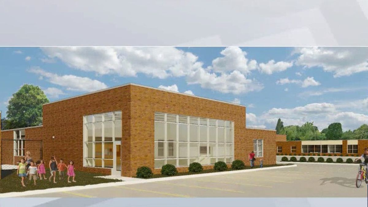 Artist concept of the Danz Elementary School expansion.
