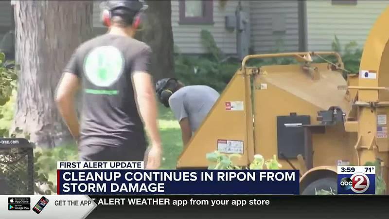 Ripon storm damage cleanup