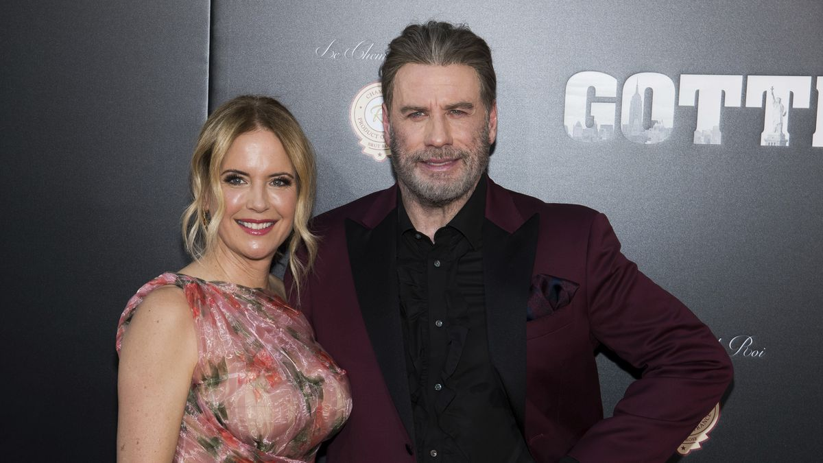 "Kelly Preston and John Travolta attend the premiere of ""Gotti"" at the SVA Theatre on Thursday, June 14, 2018, in New York."