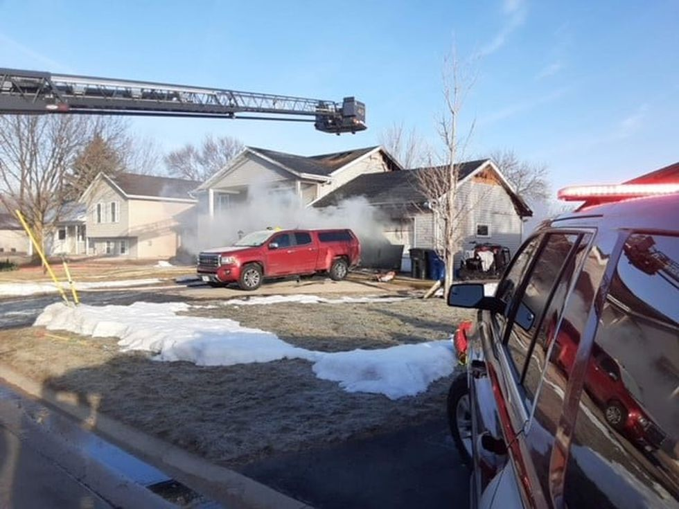 A Fox Crossing home was damaged by fire early Sunday morning.